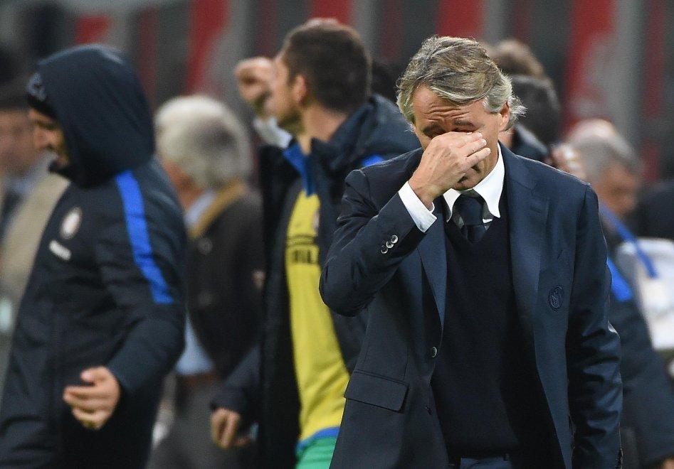 """Inter, Mancini in lacrime a fine partita: """"Ma era solo stanchezza"""""""