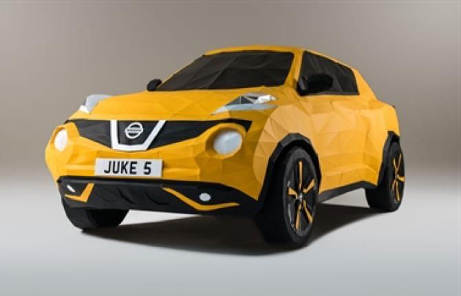 E la Nissan Juke diventa un origami