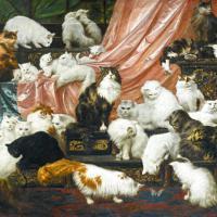 Quarantadue gatti per 826mila $: asta record per il quadro dei felini
