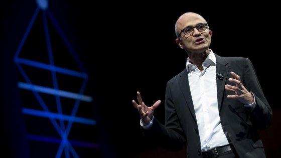 """Nadella: """"La mia Microsoft come una startup, attenta ai giovani e all'innovazione"""""""