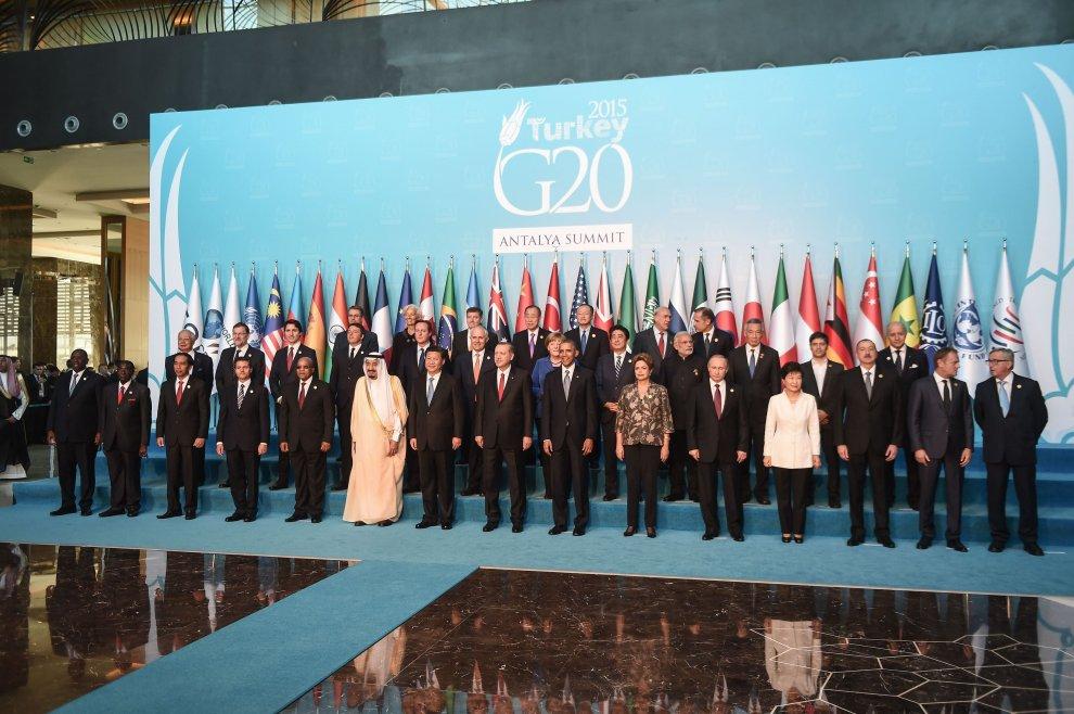 Turchia, i capi di Stato e di governo al vertice G20