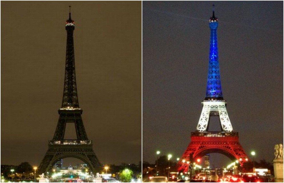 Parigi Si Riaccende La Tour Eiffel Con I Colori Della Bandiera