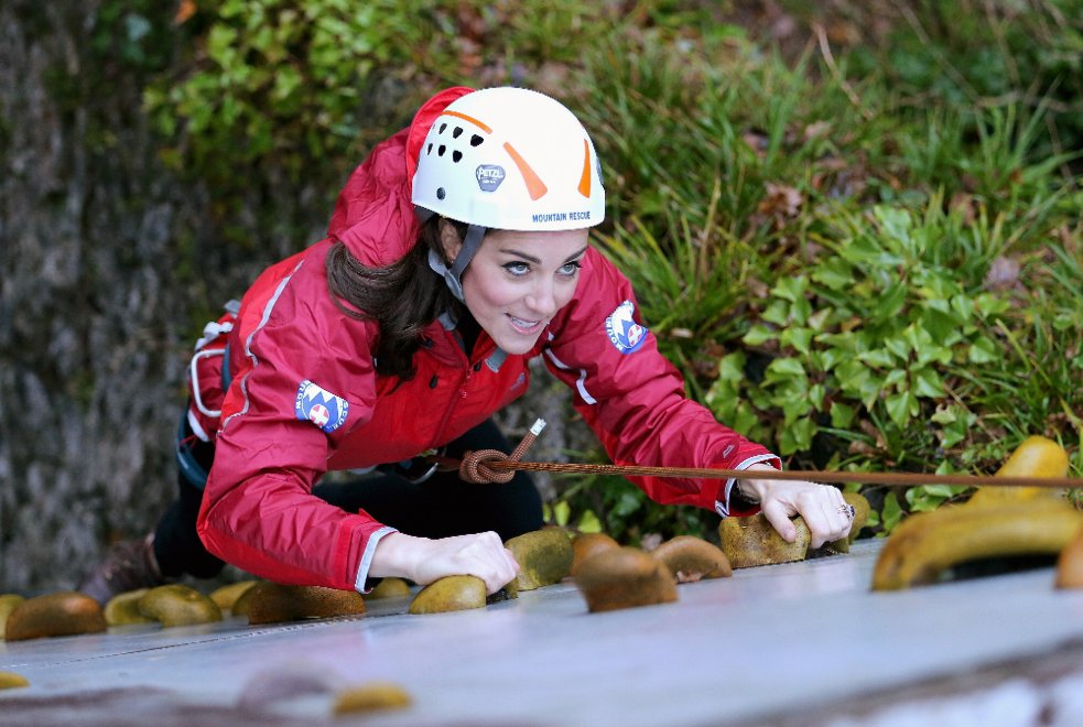 Free climbing in Galles: l'arrampicata di Kate e William