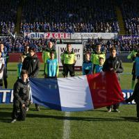 La bandiera della Francia negli stadi della serie A
