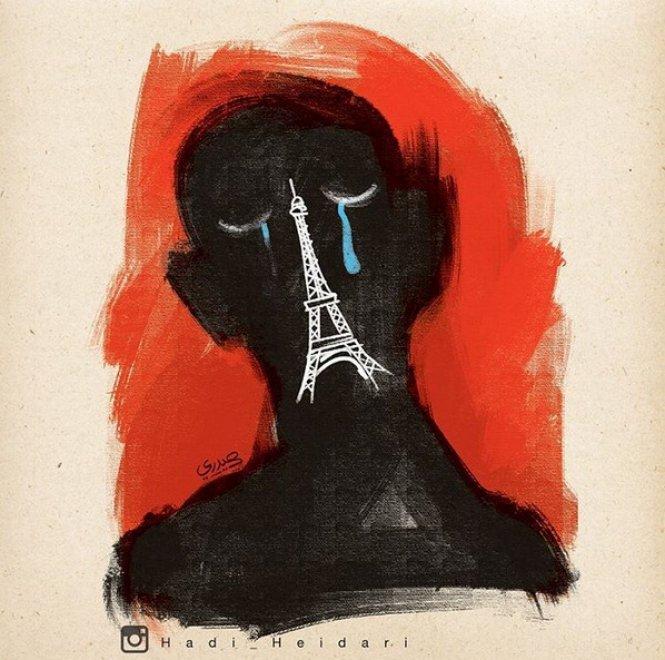 Iran, arrestato vignettista che aveva reso omaggio a Parigi