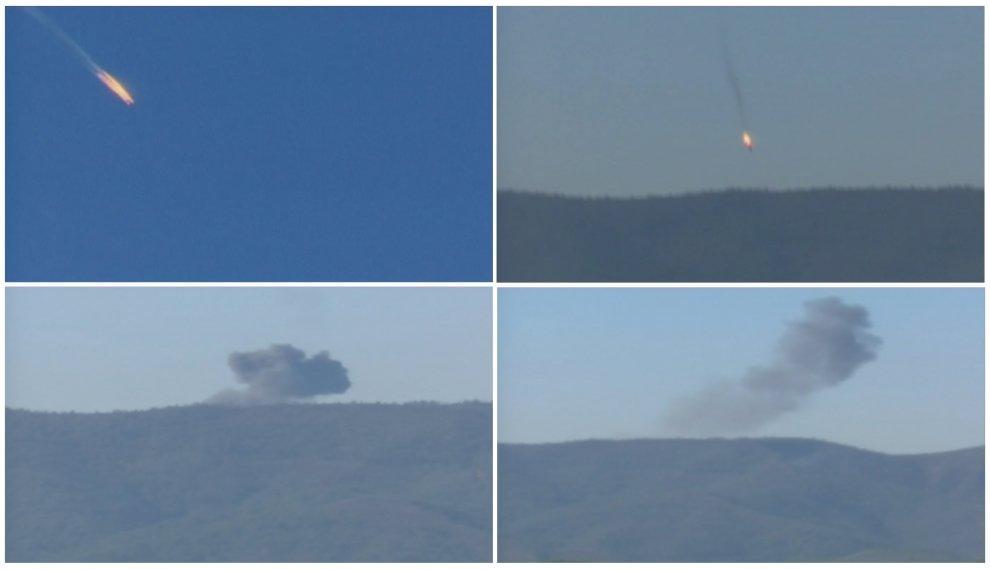 Turchia, aereo russo abbattuto al confine siriano