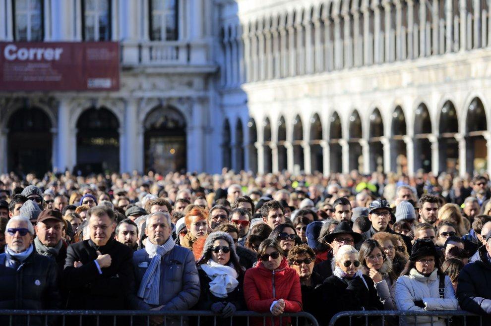I funerali di Valeria Solesin in piazza San Marco