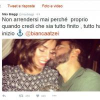 Max Biaggi e Bianca Atzei, tweet romantico per confermare i rumors