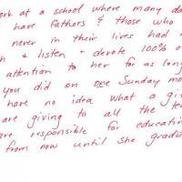 """""""Grazie perché sei un buon padre"""": lettera di un'insegnante a un genitore"""