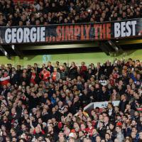 Old Trafford ricorda Best: ''George, Simply The Best'