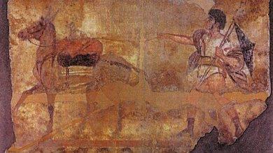 Ritrovati affreschi rubati a Paestum   vd     Foto  Il guerriero in trionfo del 300 a.C