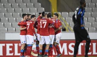 Bruges-Napoli 0-1: decide Chiriches, quinta vittoria per gli azzurri