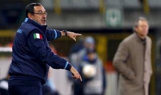 """Napoli, Sarri: """"Con l'Inter sfida scudetto? Mi viene da ridere..."""""""