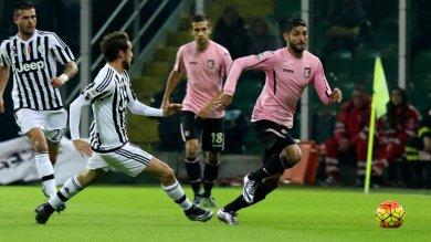 """Ora in diretta  Palermo -Juventus 0-1   Crollo Roma ko in casa    foto       Garcia : """"Resto"""""""