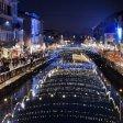 Luci di Natale a Milano Riflessi d'oro sui Navigli