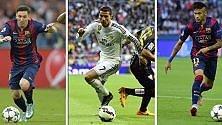 Ronaldo, Messi e Neymar  Ecco i tre finalisti -   Foto   Florenzi tra i migliori gol