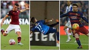 Gol dell'anno: Florenzi vs. Messi Finalisti del premio per i bomber
