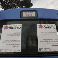 """Rosa Parks e il """"no"""" al razzismo, inaugurata a Roma la campagna #alpostogiusto"""