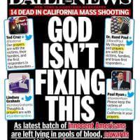 Strage California, Daily News contro i politici: ''Non può pensarci Dio''