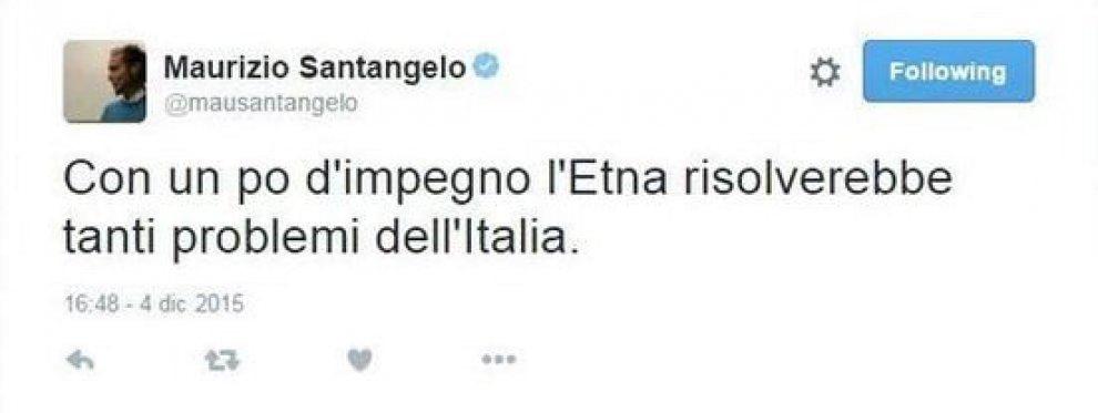 """M5s, il tweet del senatore Santangelo: """"Etna risolverebbe tanti problemi"""""""