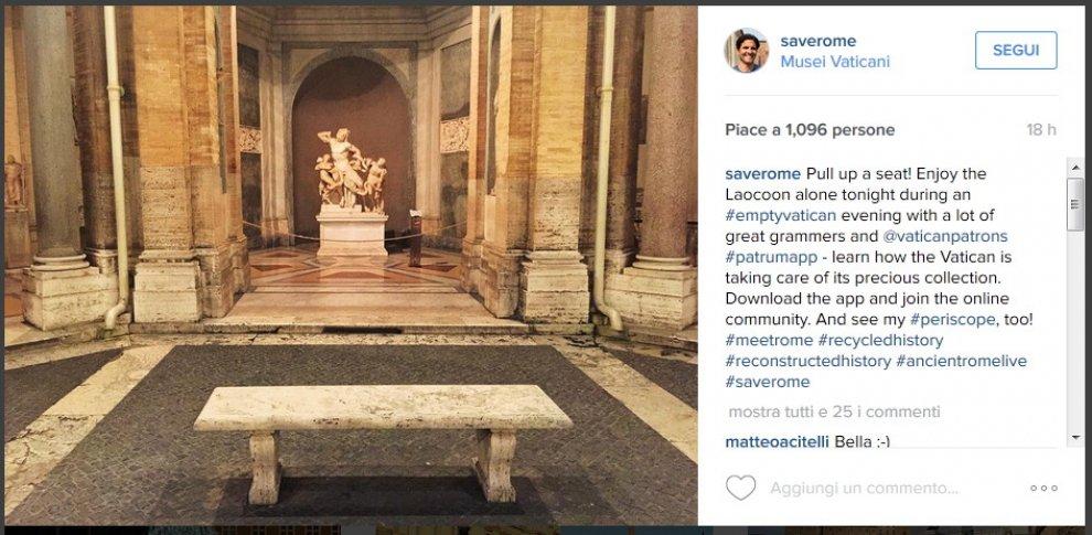 La solitudine dell'arte: su Instagram la visita nelle sale deserte dei Musei Vaticani