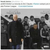Premier, Ranieri batte Mourinho: è primo. Su Twitter tuti pazzi per il Leicester