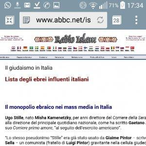 Blacklist di ebrei sul Web, indaga procura Roma