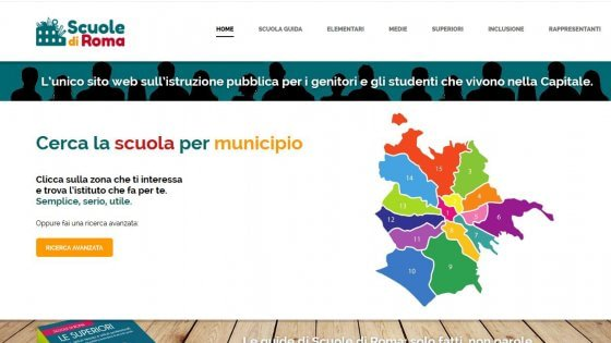 Roma, la mappa delle scuole è online