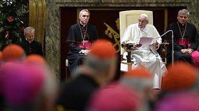 """Il Papa: """"Le malattie della curia   video   hanno causato dolore, riforma va avanti"""""""