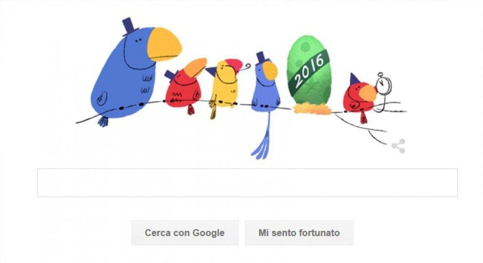 """""""Felice anno nuovo"""": gli auguri mondiali di Google per il 2016"""