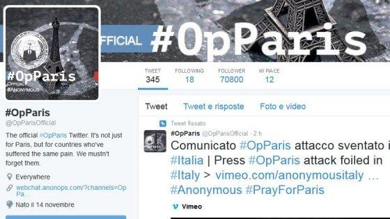 """Anonymous: """"Quelli dell'Is chattavano di Firenze. Così li abbiamo intercettati e fermati"""""""