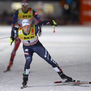 Sci di fondo, Pellegrino vince anche in Svizzera: è sempre più il re dello sprint