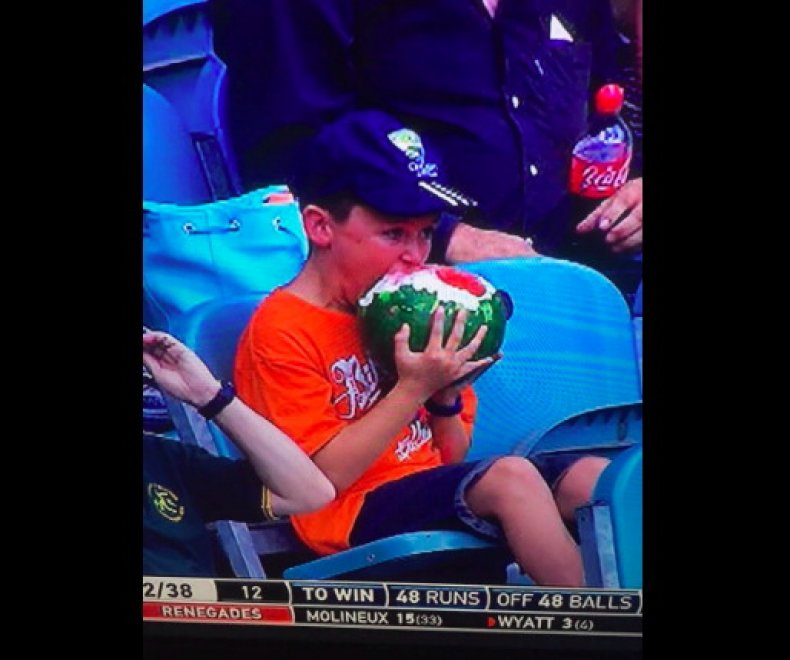 Australia, inquadrato mentre divora un'anguria intera: il web impazzisce per #WatermelonBoy