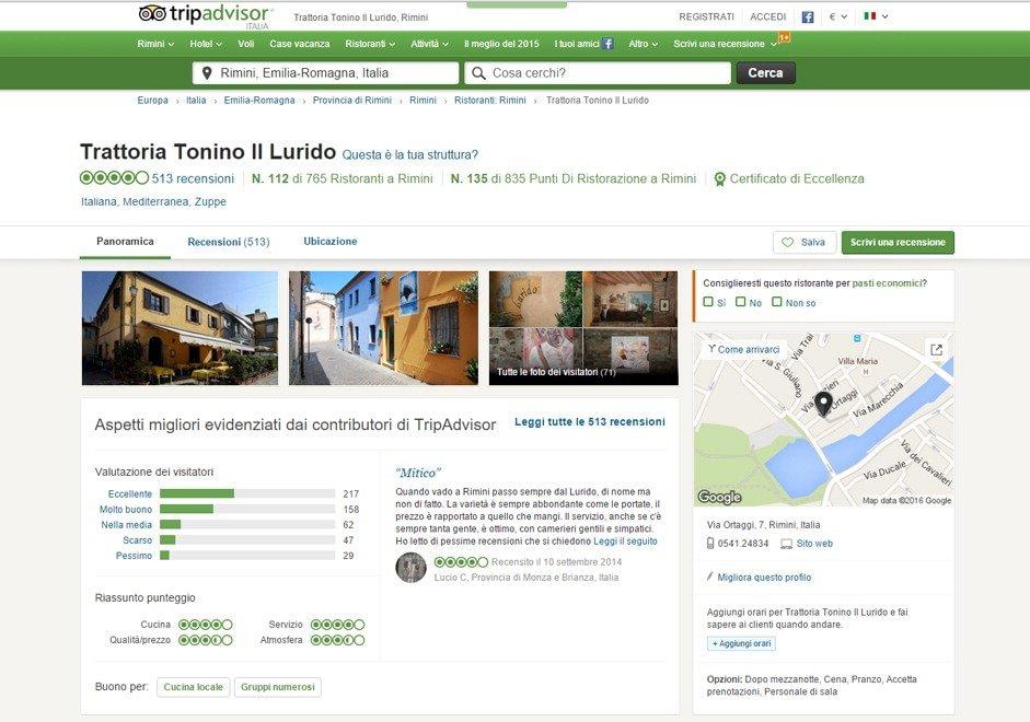 Rimini, quel ristorante chiuso dal 2014 che ancora riceve ottime recensioni