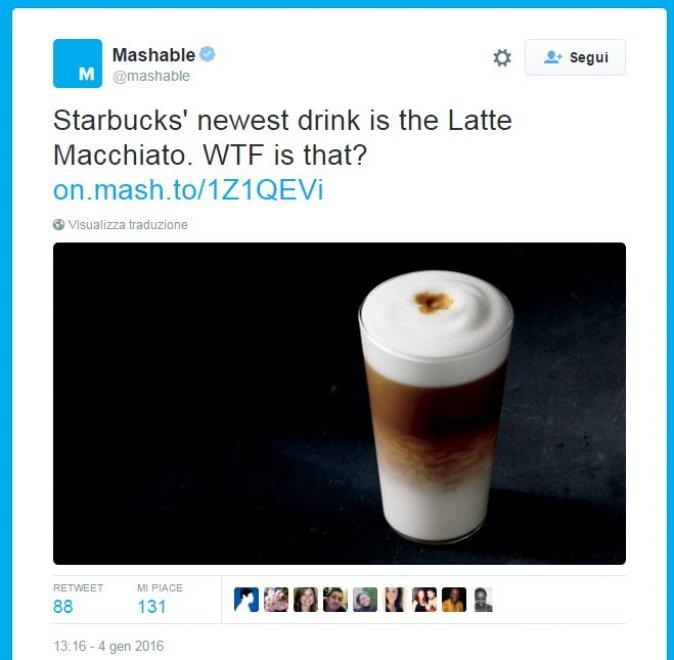 """Starbucks, arriva il """"Latte Macchiato"""". Ma gli americani non capiscono cosa sia"""