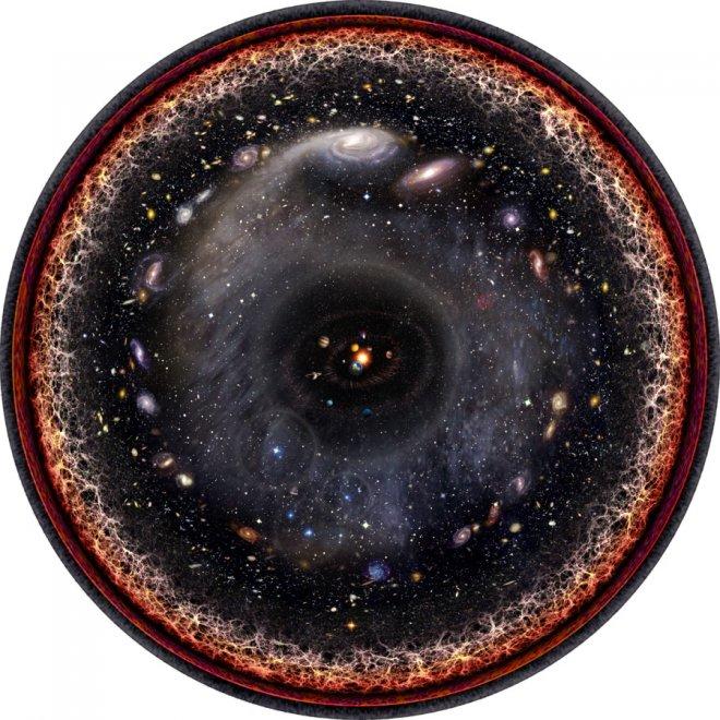 Spazio, tutto l'universo in una sola immagine: l'opera dell'artista Budassi