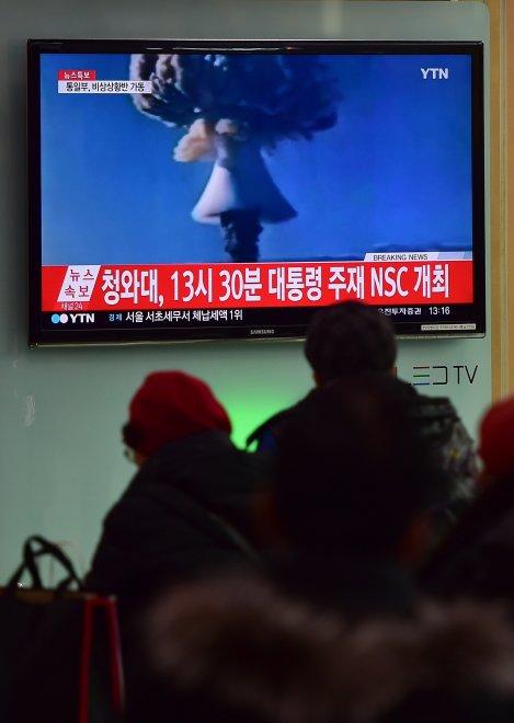 """Corea del Nord:  """"Abbiamo fatto esplodere un ordigno nucleare"""", in tv immagini di repertorio"""