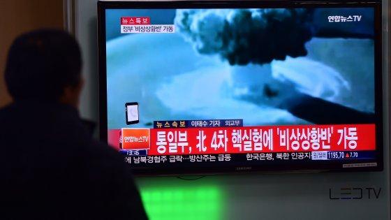 """Nord Corea minaccia il mondo: """"Fatta esplodere bomba H"""". Dubbi della Casa Bianca: """"Non è a idrogeno"""""""