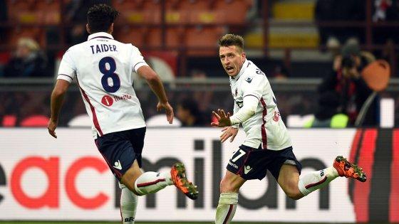 Milan-Bologna 0-1, Giaccherini punisce i rossoneri
