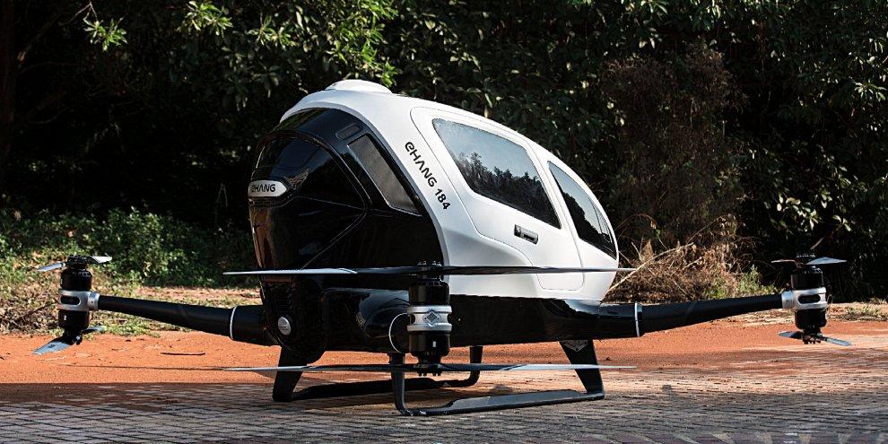 In viaggio senza pilota: arriva il primo drone che trasporta passeggeri