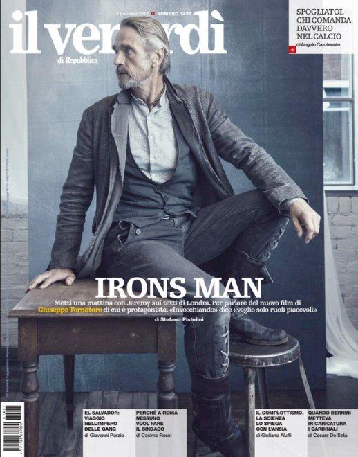 il Venerdì: in copertina c'è Jeremy Irons