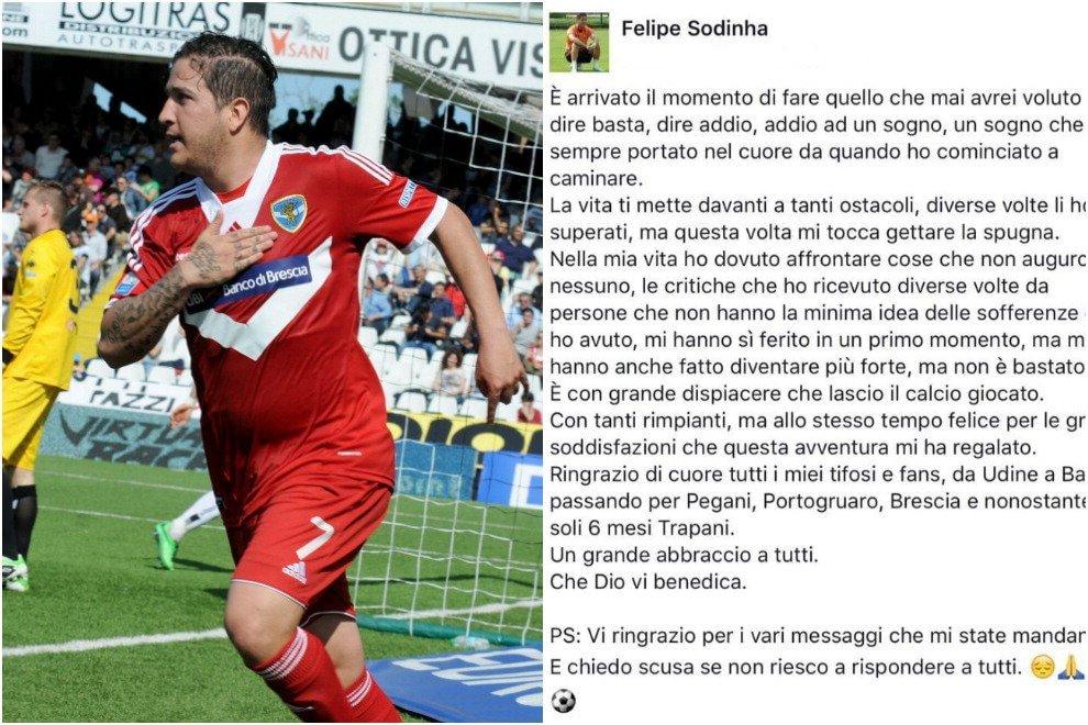 """Sodinha: """"Addio al calcio"""". Il bomber con la pancia smette a 27 anni"""