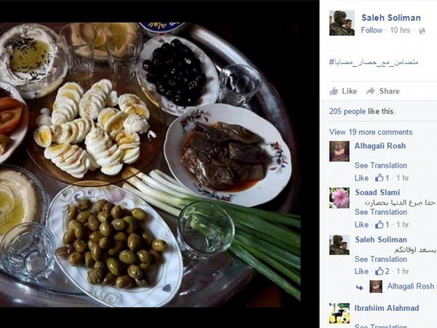 Siria, sostenitori di Assad diffondono sui social foto di cibo per deridere gli assediati di Madaya