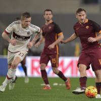 Roma-Milan 1-1: Kucka risponde a Rudiger, Mihajlovic respira