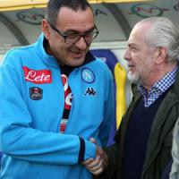 Napoli, Sarri: ''Grande prova di maturità''. Maradona: ''Ora regalatemi lo scudetto''