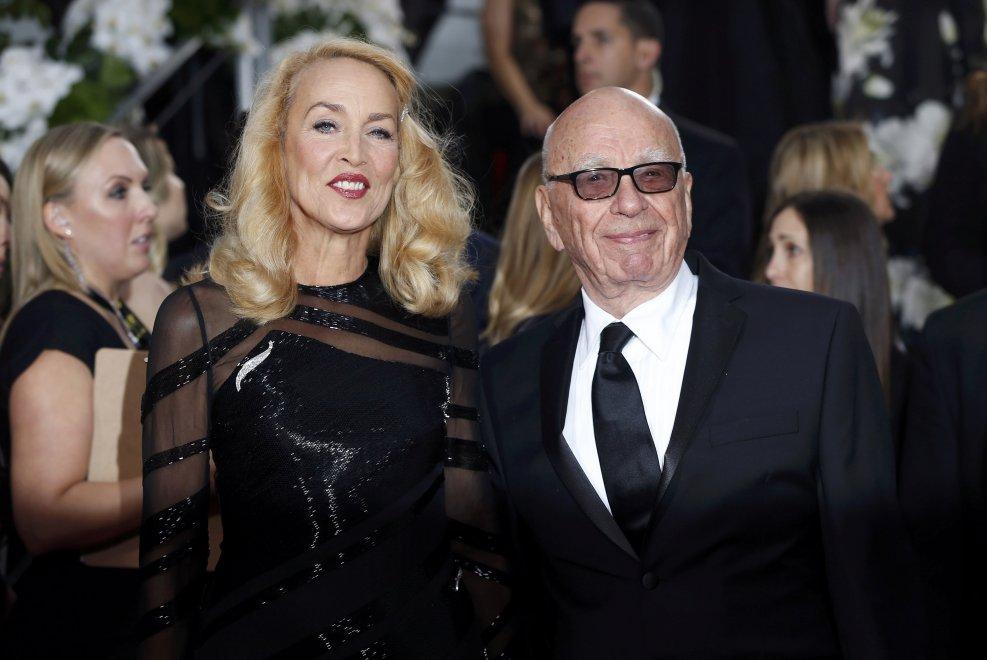 Rupert Murdoch sposerà Jerry Hall: l'annuncio del matrimonio sul Times
