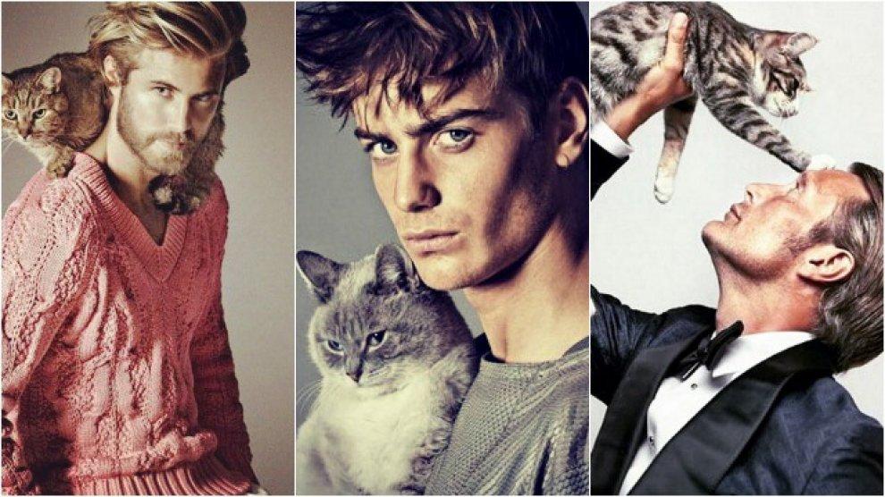 Instagram, belli e felini: uomini che amano i gatti