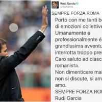 Rudi Garcia, post di addio alla Roma: