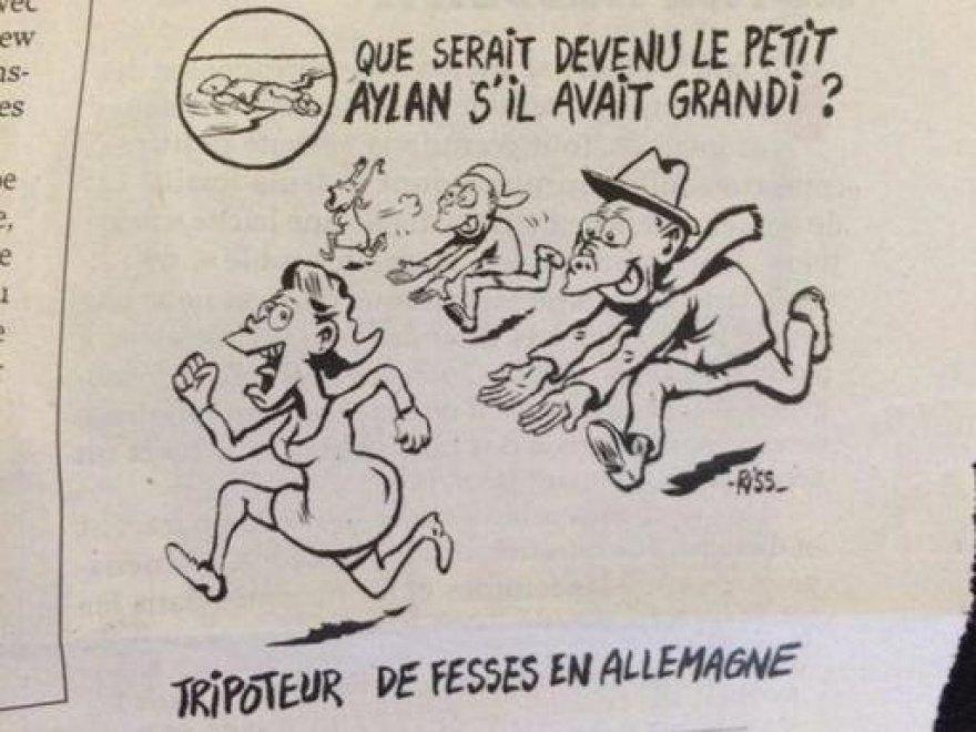 """""""Il piccolo Aylan futuro molestatore?"""". Proteste contro vignetta Charlie Hebdo"""