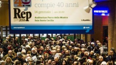 """I 40 anni   di Repubblica """"fra  storia e futuro """"       Parole e musica,  compleanno-show    foto"""